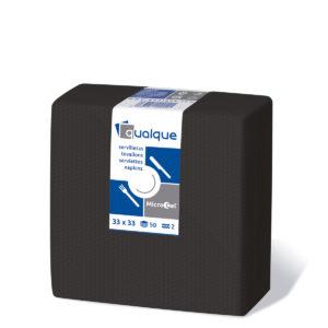 14302 - Servilletas de papel 33x33 MicroCel Negro