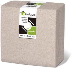 1520N - Servilletas de papel 40x40 AirCel COMPOSTABLE 60gr Natural