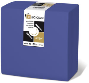 15265 - Servilletas de papel 40x40 AirCel COMPOSTABLE 60gr Azul