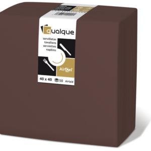 15266 - Servilletas de papel 40x40 AirCel COMPOSTABLE 60gr Chocolate