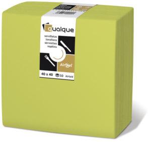 15274 - Servilletas de papel 40x40 AirCel COMPOSTABLE 60gr Bambú