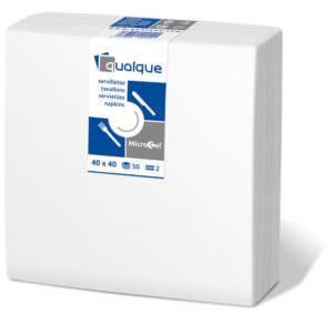 14200 - Servilletas de papel 40x40 MicroCel Blanco
