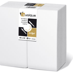 15220 - Servilletas de papel 40x40 AirCel 55gr 1/8 Blanco