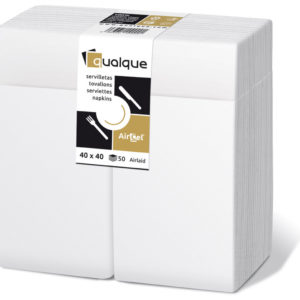 15950- Servilletas de papel 40x40 AirCel 55gr  Kangaroo 1/8 Blanco