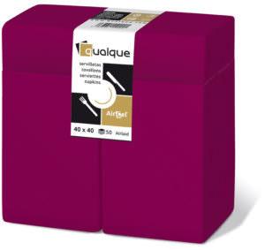 15951 - Servilletas de papel 40x40 AirCel 60gr 1/8 Kangaroo Burdeos